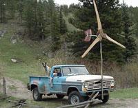 Wind Gen on Truck