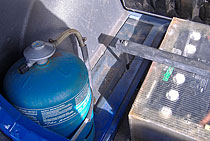 Gas tank and batteries