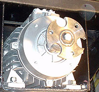 Motor mounted with shaft