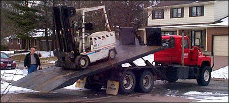 Baker Forklift Delivery
