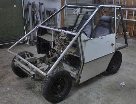 Jerry's Citicar with shell off