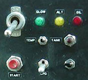 Sharkey's pusher engine control panel