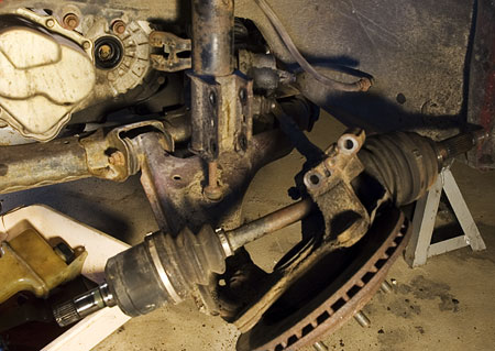 Drive shaft removed