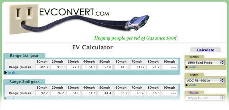 EVConvert new EV Calculator Screenshot