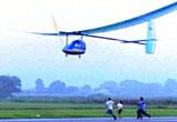 AA batteries powering airplane
