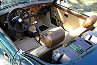 Alvan's Spitfire EV interior